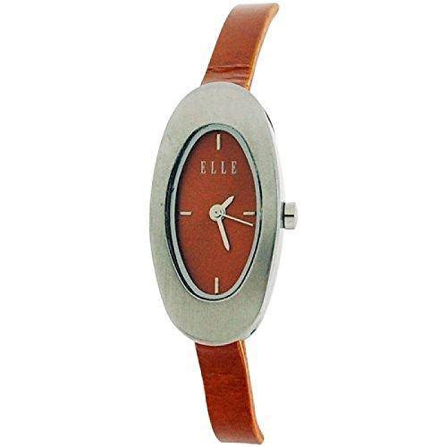 Elle Ladies Burnt Orange Dial & Narrow PU Strap Ladies Fashion Watch EL007-03