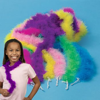 Mini Maraboou Feather Boas Halloween Costume Dress up Party 12 pack