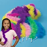 Mini Maraboou Feather Boas Halloween Costume Dress up Party 12 pack