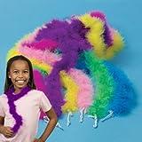 Mini Marabou Dress Up Boas Assorted Colors (12), Health Care Stuffs