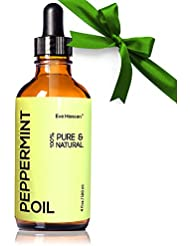 Top Rated Pure Peppermint Oil 4 Ounce by Eve Hansen. Therapeutic Essential Oil For Nausea Relief, Mice Repellent, Hair Growth Oil, Sinus Relief, Breath Freshener, and Natural Muscle Relaxer. Vegan!