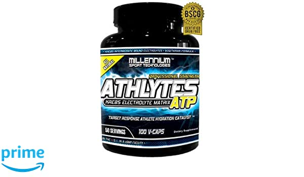 Amazon.com: Millennium Sport Technologies, Athlytes ATP, Athletes, Electrolytes, Krebs Cycle Intermediates, 100 Vegetarian Caps, BSCG Certified Drug Free: ...