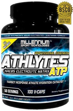 Millennium Sport Technologies, Athlytes ATP, Athletes, Electrolytes, Krebs Cycle Intermediates, 100