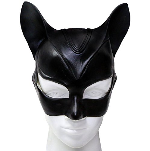 Women's Newest Edition Catwoman Mask TDKR Masks for Halloween Party (Latex Catwoman Suit)