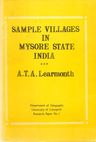 Sample Villages in Mysore State India Research Paper No. 1