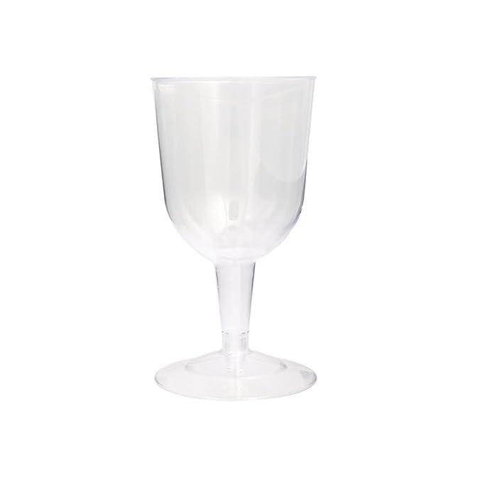 Amazoncom 55oz Clear Plastic Wine Glasses 8ct Kitchen Dining