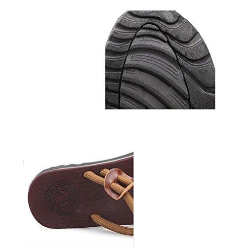 Antidérapant À Chaussures l'extérieur femmes Tongs Pantoufles plage de Couple black Hommes et xB5qggwTYt