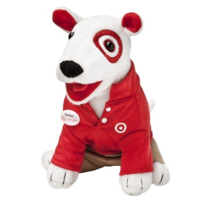 Bullseye Target Dog Red And Khaki Badge