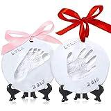 Baby Handprint Footprint Ornament Keepsake Kit - Personalized Baby Prints Ornaments For Newborn - Baby Nursery Memory Art Kit - Baby Shower Gifts For Baby Registry Boys Girls - Christmas Gift Ornament