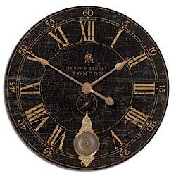 Uttermost Bond Street 30 Black Wall Clock 06030