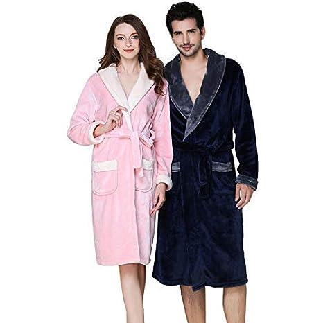 da3a546b5f GYH Casa Coppia Uomo Donna Coperta Morbida Flanella Vestaglia E Camicia da  Notte Adulto Caldo Pigiama