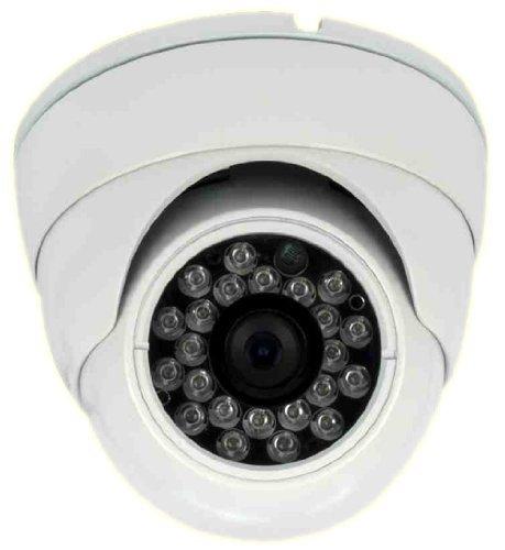 ALEKO® IN30 White Color CCTV Security Camera 700 TVL High Resolution Vandalproof Turret Dome Cameras IR 3.6MM