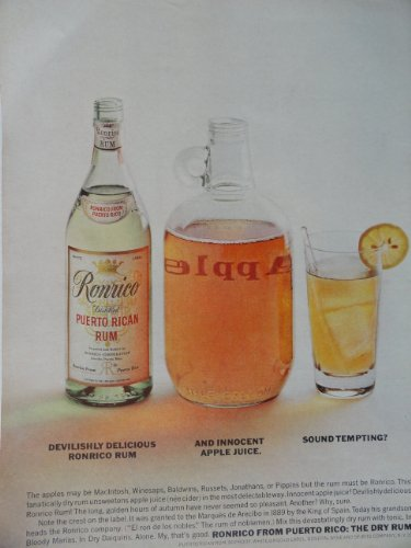 (Ronrico Rum, 60's Full Page Color Illustration, 8 1/2