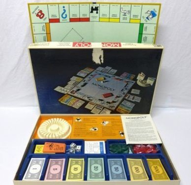Vintage 1974 Monopoly Anniversary Edition Board Game