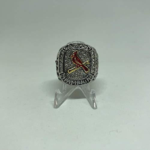 St. Louis Cardinals High Quality Replica 2011 World Series Championship Ring Size 12-Silver Colored US SHIPPING (St Louis Cardinals World Series Championships 2011)