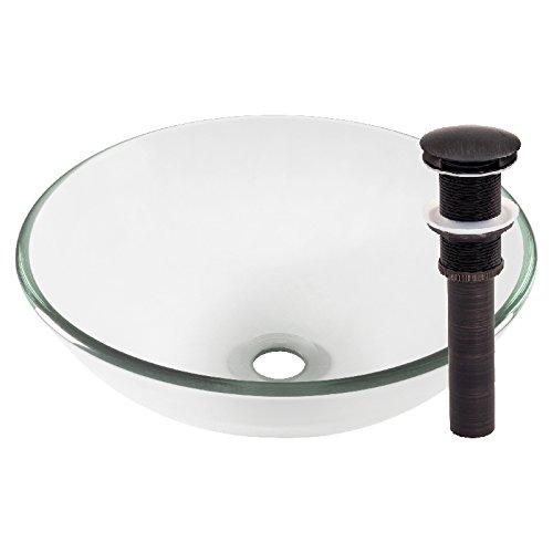 Novatto BONIFICARE Glass Vessel Bathroom Sink Set, Oil Rubbed Bronze ()