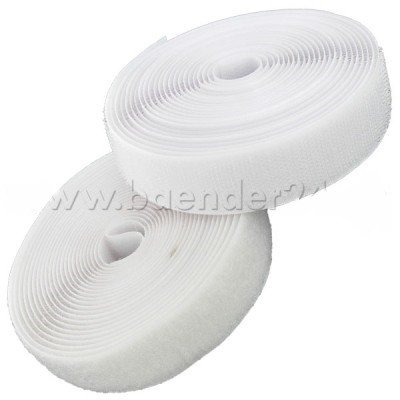 suave y gancho 25 m de velcro para coser color: blanco 20 mm de ancho
