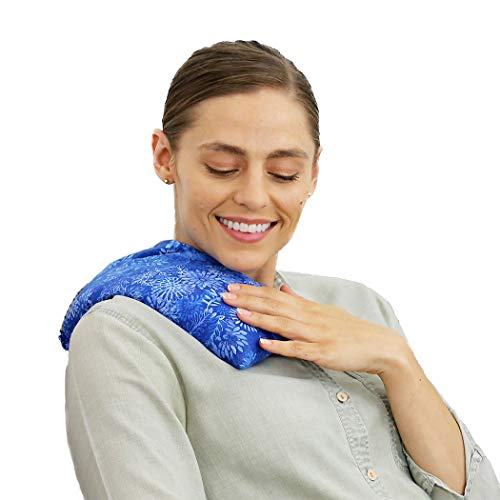 (Nature Creation- Basic Herb Pack Heating Pad- Aromatherapy - Hot and Cold Therapy (Blue Flowers))