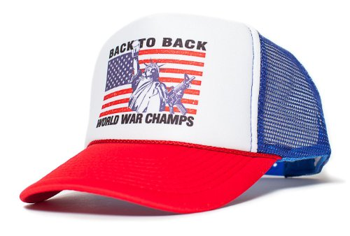 Liberty Back To Back World War Champs Unisex-Adult Hat One-Size (Royal/Red)