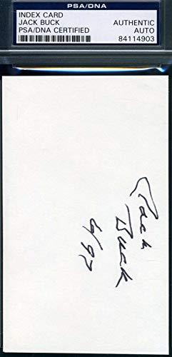 JACK BUCK PSA DNA COA Autograph Cardinals 3x5 Signed Index Card