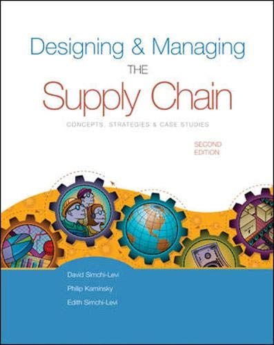 Designing and Managing the Supply Chain (Irwin/Mcgraw-Hill Series in Operations and Decision Science