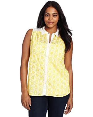 Women's Plus-Size Vivianne Collared Top