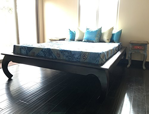 - Worldcraft Wooden Platform Bed Frame. Curved Elephant Legs. Hand Crafted from Solid Neem Wood of The Mahogany Family. Neem is a Natural Pesticide. Pair with a Headboard or use for The Guest Bedroom.