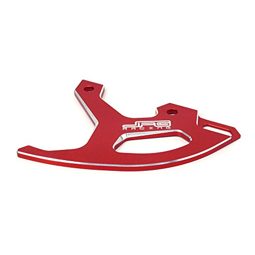 (Rear Brake Disc Guard Cover Protector CNC Billet Dirt Bike Motorcycle Parts Fit for For Honda CR125R CR250R CRF250R CRF450R CRF450RX CRF250X CRF450X, Red)