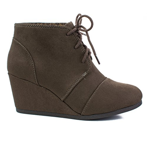 Deeptaupe Bootie Lace Ankle up Oxford Soda xqwYpHXn