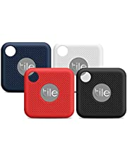 Compatible for Tile Pro (2020 & 2018) Case, 4 Pack Full Body Silicone Cover Anti-Scratch Lightweight Soft Protective Silicone Case for New Tile Pro (2020 & 2018) with Keychain-Black, White, Blue, Red