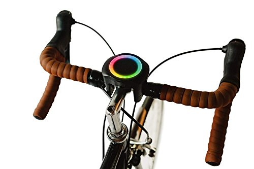 SmartHalo - Bike Smarter | Smart Bike Accessory Cycling Computer With Light, GPS & Navigation, Anti-Theft Alarm, Fitness Tracker, Speedometer, Odometer, and Assistant | Base Mount and Key Included - Urban Wireless Cycling Computer