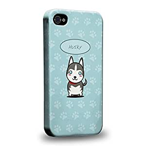 The most popular Art Collections Hand Drawing Cartoon puppy husky Protective Snap-on Hard Back Case Cover for Apple iPhone 6 4.7