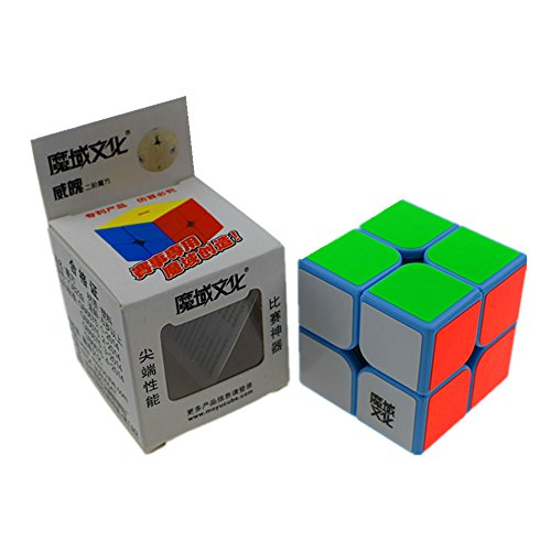 Cuberspeed Moyu Weipo 2x2 Blue Magic cube 2x2x2 Weipo Speed cube
