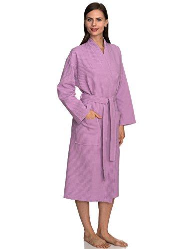 - TowelSelections Women's Robe, Kimono Waffle Spa Bathrobe X-Small/Small Lupine