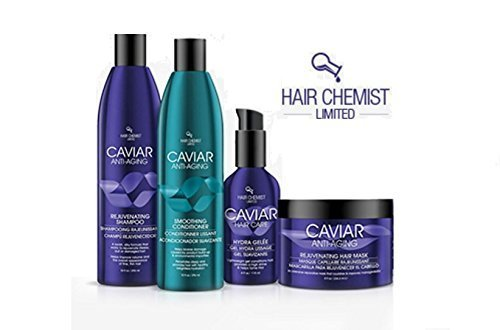 Hair Chemist Caviar COMBO: Rejuvinating Shampoo 10 oz. + Conditioner 10 oz. + Gelee 4 oz. + Hair Mask 8 oz. Fisk Industries