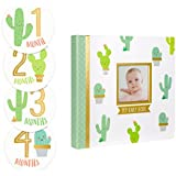Pearhead Cactus Baby Memory Book with Included Baby...
