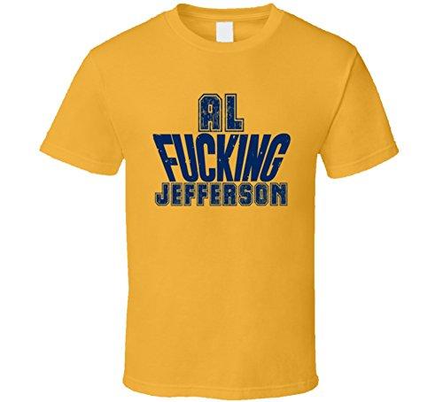 Fcking Al Jefferson Funny Player Indiana Basketball T Shirt 2XL Gold