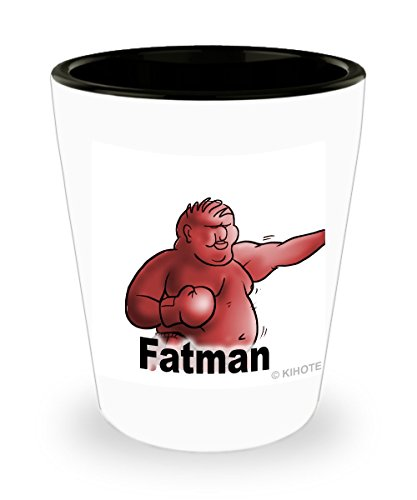 Fatman Shot Glass Collectable. Quirky addition for your memory palace. Use this glass to improve your life: see Michael Dalton's book '5 Steps to Better Memory' on Amazon