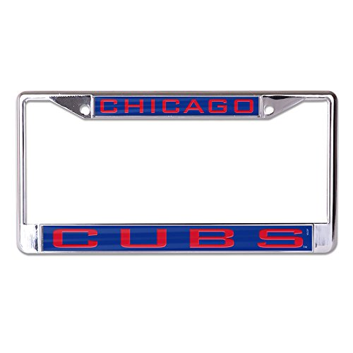 WinCraft MLB Chicago Cubs Inlaid License Plate Frame, Team Color, One Size