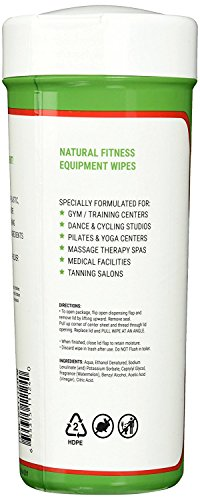 New Wipex Natural Fitness Equipment Wipes for Personal Use, Vinegar with Watermelon Scent - Great for Yoga, Pilates & Dance Studios, Home Gym, Peloton Bike Wipes, Spas & More (4 Canisters, 300 Wipes) by Wipex (Image #3)