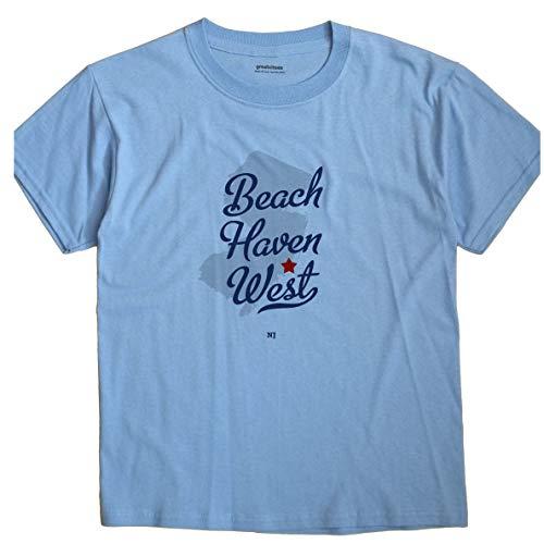 GreatCitees Beach Haven West New Jersey NJ MAP Unisex Souvenir T Shirt