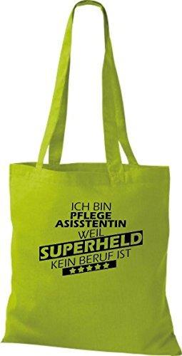 Shirtstown Bolso de tela Estoy Enseñanza, weil Superheld sin Trabajo ist kiwi