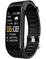TAORANG Fitness Trackers Armbanden Gezondheid Oefening Horloges Met Hartslagmeter Sleep Monitor Bloed Zuurstof Ip67 Waterdicht Fit Horloge Voor Android Ios Voor Mannen Vrouwen (Zwart)