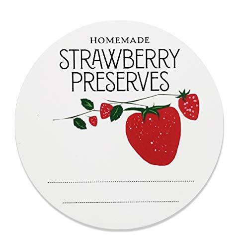 (Homemade Strawberry Preserves Jam Jelly Mason Jar Labels, 2