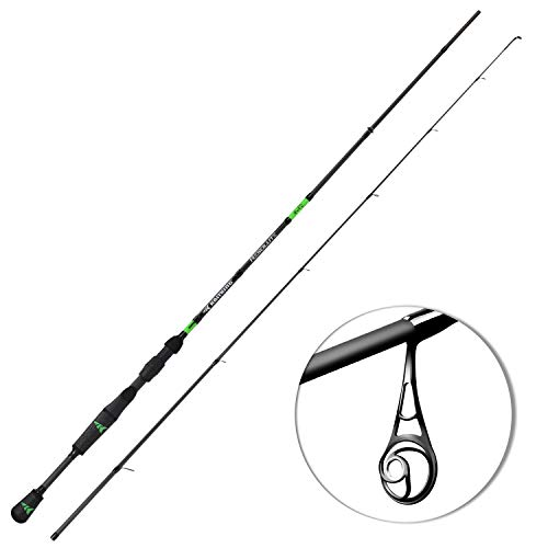 KastKing Resolute Fishing Rods, Spinning Rods & Casting Rods, Ultra-Sensitive IM7 Carbon Fishing Rod Blanks, American Tackle Guides, American Tackle 2pc Bravo Reel Seat, 2pc Designs