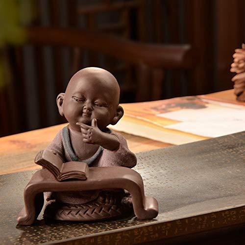 DAVITU New Ceramic Creative Small Buddha Statues Sculptures Home Furnishing Wholesale Buda Decoration feng Shui Ornaments AIHOME Craft - (Color: 2) ()