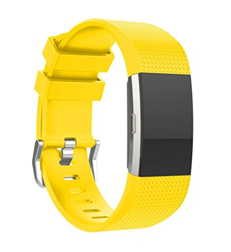 For Fitbit Charge 2 ,Sunfei New Fashion Sports Silicone Bracelet Strap Band For Fitbit Charge 2 (Yellow)