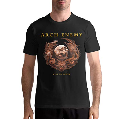 Arch Enemy T Shirts Men's Tops Short Sleeved Round Neck Cotton Tees M Black