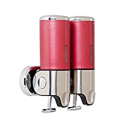 Yunzhicheng Wall Mount Lotion/Soap Dispenser for Hotel,Home,Office Double