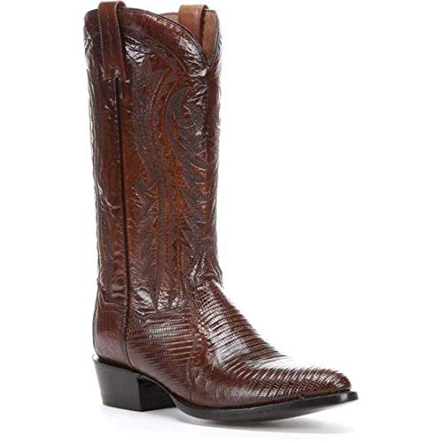 Men's Dan Post Raleigh Teju Lizard Boots Handcrafted Tan